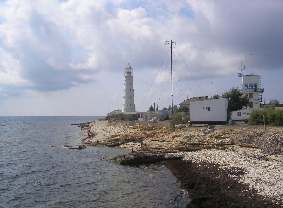 Leuchtturm an der Krim-Küste