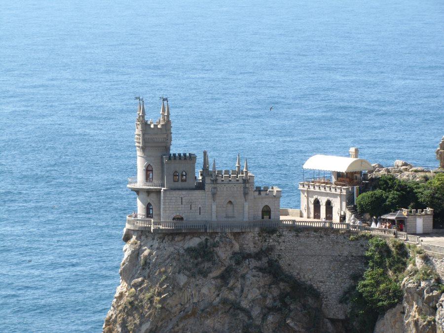 Das Schwalbennest, eine der Sehenswürdigkeiten auf der Krim