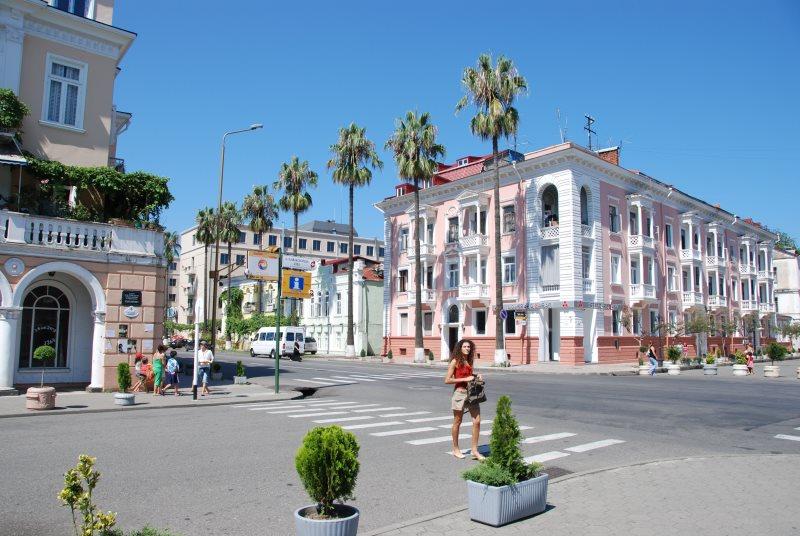 Blick in die Strassen von Batumi